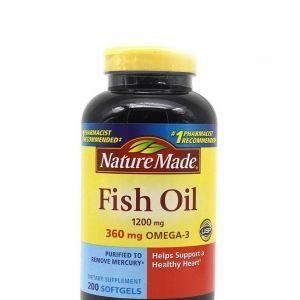 Dầu Cá Nature Made Fish Oil Omega 3 1200mg 200 Viên