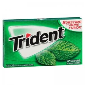 Singum Trident Không Đường Hương Bạc Hà 14 Cái/Gói Mỹ