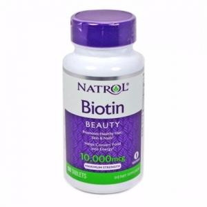 Viên uống bổ tóc Natrol Biotin 10000mcg 100 viên