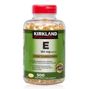 Vitamin E 500 Viên Kirkland Của Mỹ Đẹp Da Chống Lão Hóa